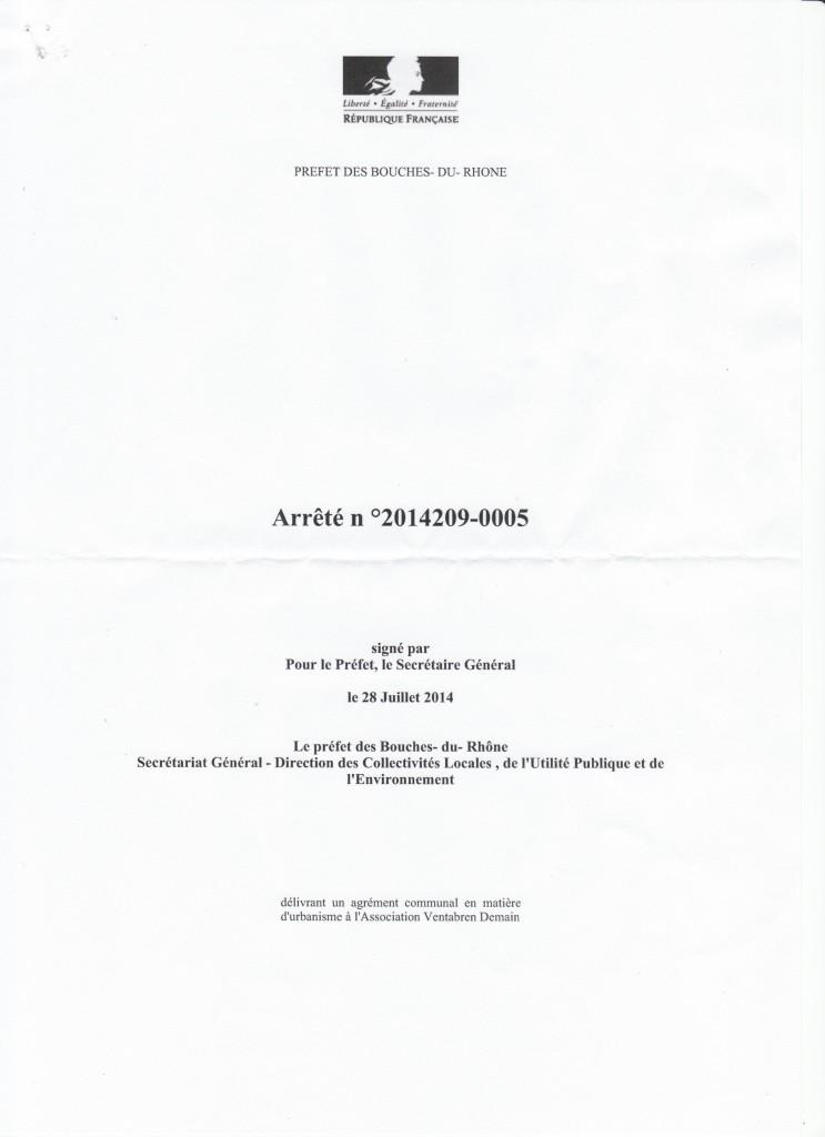 AGREMENT URBANISME ARRETE 1